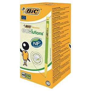 Bic® Matic Ecolutions wegwerp drukpotlood, HB, 0,7 mm, doos van 50 potloden