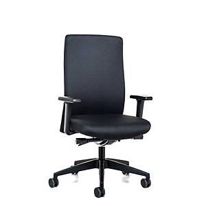 Prosedia Topline 4142 bureaustoel met synchroon mechamisme, stof, zwart