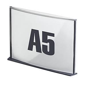 Plaque de porte Paperflow Cinatur, A5, anthracite, la pièce