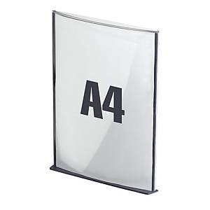Plaque de porte Paperflow Cinatur, A4, anthracite, la pièce