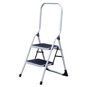 Oceľový rebrík Wonday, skladací, 2-stupienkový