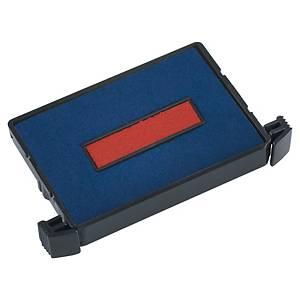 Trodat 6/4750 inktkussen, 41 x 24 mm, blauw/rood, voor 4750, 4750/L, pak van 2