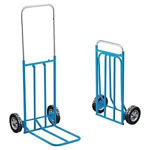 Diable pliable Safetool en acier - capacité 80 kg - bleu