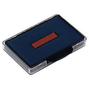 Trodat 6/56 inktkussen, 56x33 mm, blauw/rood, voor 5460, 5460/L, 5206, pak van 2
