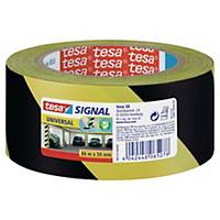 Ruban adhésif de marquage Tesa Signal Universal, jaune/noir, le rouleau