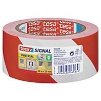 tesa® 58134 Markierungsband rot/weiß, 50 mm x 66 m