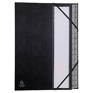 Exacompta trieur 32 compartiments carton noir