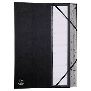 Exacompta trieur 24 compartiments carton noir