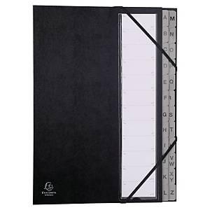 Exacompta multipart file 24 compartments cardboard black