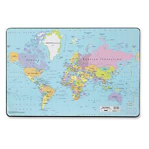 Skriveunderlag Durable, 53 x 40 cm, verdenskort