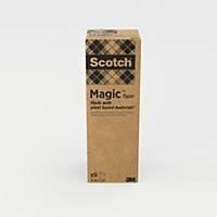 Tape Scotch Magic 900 «A Greener Choice», 19 mm x 33 m, pakke à 9 ruller