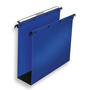 Hængemappe Elba, 8 cm bund, A4, blå, pakke a 10 stk.