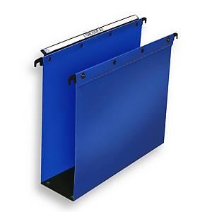 Dossier suspendu pour tiroir Elba Ultimate - PP - dos 80 mm - bleu - par 10