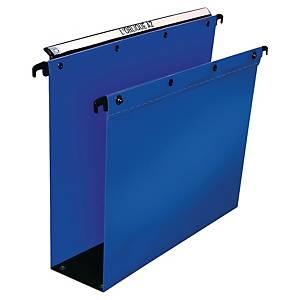 Cartelle sospese armadio Elba PPL fondo U-8 cm interasse 390 mm blu - conf. 10