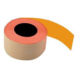 Etykiety do metkownic 26 x 16 mm, pomarańczowe, proste, rolka 700 sztuk