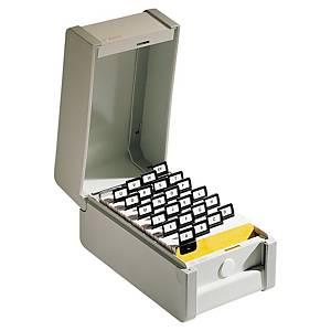 Boîte Rexel pour fiches 14,8 x 21 cm - grise