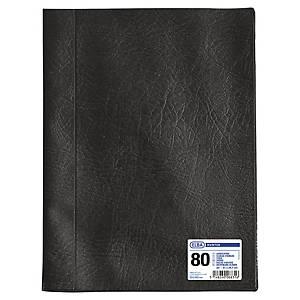 Porte vues Oxford Hunter - PVC grain cuir - 40 pochettes - noir