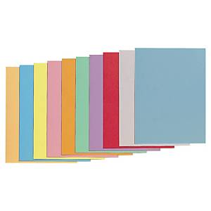 LYRECO SQUARE CUT FOLDERS CARDBOARD 250G A4 ASSORTED COLOURS - PACK OF 100