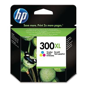 HP 300XL High Yield Tri-Colour Original Ink Cartridge (CC644EE)