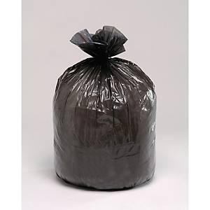 Sac poubelle pour déchets lourds - 150 L - 75 microns - gris - 100 sacs