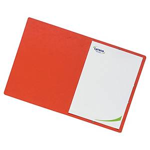 BX10 LYRECO FOLDER PRESSPAHN 32X24 RED