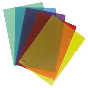 Chemise coin Lyreco Premium A4 - PP 15/100e - coloris assortis - par 50