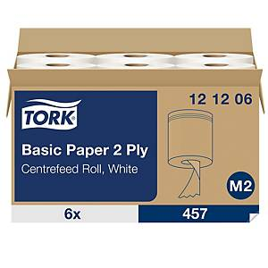 Tork Xpress M2 Centrefeed 2-Ply Wiping Paper Roll 160m White - Pack Of 6