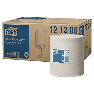 Tørkepapir Tork M2 Basic Senterrull, kartong à 6 ruller