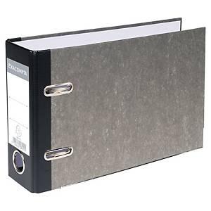 Brevordner Exacompta, pap, 70 mm, grå