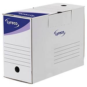 Boîte d archives Lyreco - manuel - dos 15 cm - blanche - par 50