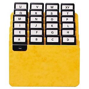 Intercalaire Exacompta pour boîte à fiches - 14,8 x 10,5 cm - 24 touches