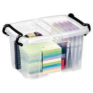 STRATA SMART STOREMASTER BOX 6 LITRE 330 X 225 X 170MM WITH FOLDING LID CLEAR