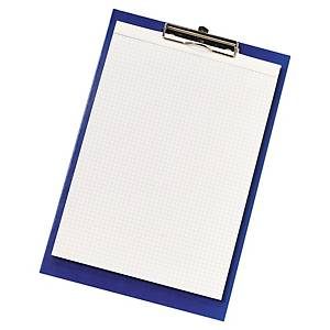Porte-bloc à pince - A4+ - PVC - bleu