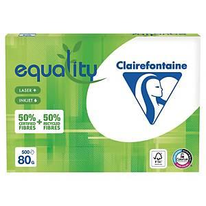 Papier recyclé blanc A4 Clairefontaine Equality - 80 g - ramette 500 feuilles
