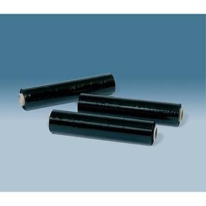 Pallestrækfilm DS Smith 20 µm, til hånddispenser, 45 cm x 300 m, sort