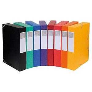 Boîte de classement Exacompta Cartobox - carte - dos 6 cm - assortis - par 10