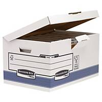 Bankers Box Archivbox, 28,7 x 37,8 x 54,5 cm, 10 Stück