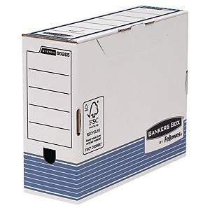 Archivschachtel Bankers Box System, B100xT315xH260 mm, blau/weiss, Pk. à 10 Stk.