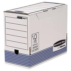 Arkivæske Bankers Box System, A4, + 15 cm, pakke a 10 stk.