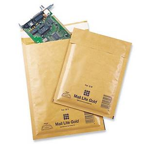 Buste a sacco imbottite Sealed Air Mail Lite® 16 x 18 cm avana - conf. 100