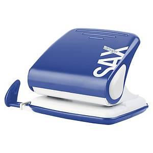 SAX 418 2HOLE PAPER PUNCH 25SHT BLUE