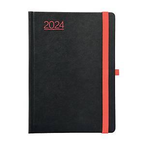 Nero heti határidőnapló A5 - piros/fekete, 15 x 21 cm, 144 oldal