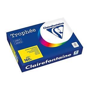 Papier Trophée 1053 A4, 160g/m2, jaune tournesol, 250feuilles