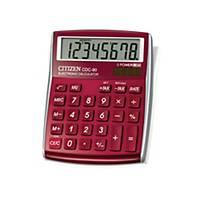 Calculatrice de bureau Citizen CDC-80, affichage de 8chiffres, bordeaux