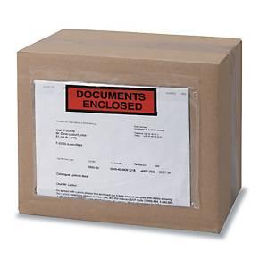 Pochette adhésive   documents ci-inclus   - 220 x 110 mm - boîte de 1000