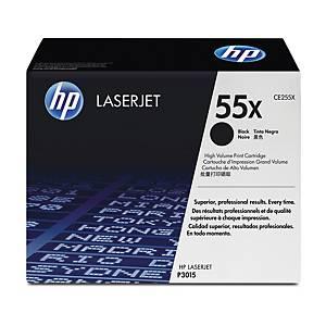 HP 55X CE255X laservärikasetti musta