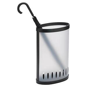 Porte-parapluies elliptique Alba - transparent/noir