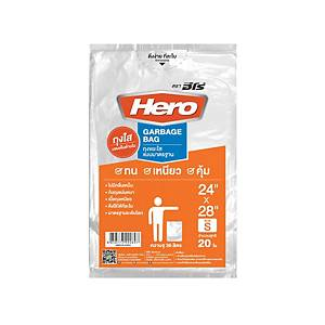 Waste Bag with Starseal 24X28 inches Clear - Pack of 20
