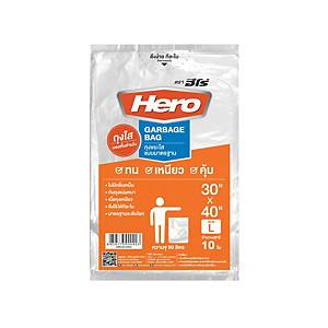 Waste Bag with Starseal 30X40 inches Clear - Pack of 10