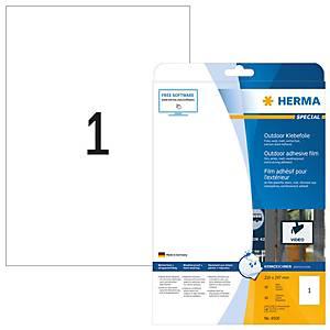 Etiquettte en film outdoor, Herma 9500, A4, mat, blanc, emballage de 10 pièces